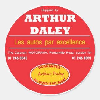 Arthur Daley Motorama bilbildekal Runt Klistermärke