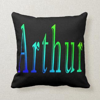 Arthur namn, logotyp, svart kastkudde kudde