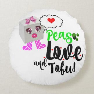 Ärtor älskar, och tofuen dämpar rund kudde