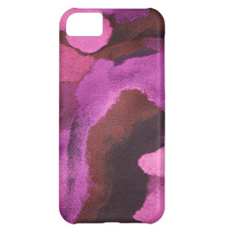 ARTSY ABSTRAKT BLOMMÖNSTER i PINK/PURPLE iPhone 5C Fodral