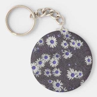 Artsy daisy rund nyckelring