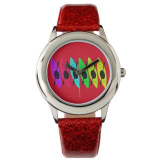 Artsy färgrikt för ungeKayaker Armbandsur