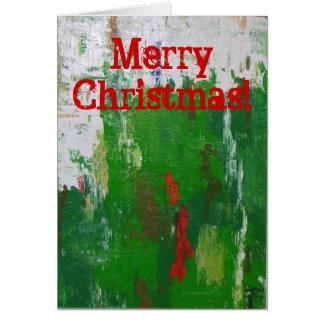 Artsy julkort! hälsningskort