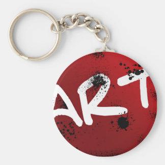 Artsy Keychain Rund Nyckelring