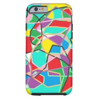 Artsy mobilt fodral för färgrikt abstrakt mönster tough iPhone 6 fodral