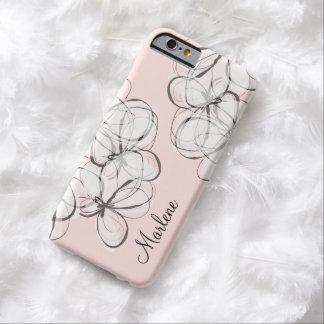Artsy modern Monogram Barely There iPhone 6 Skal