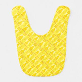 Artsy mönster för gullig gul Crayon Hakklapp