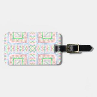 Artsy pastell belägger med tegel bagagebricka