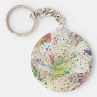 Artsy Splattered färgrikt för Rund Nyckelring