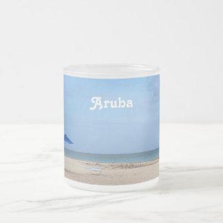 Aruba ensamhet frostad glasmugg