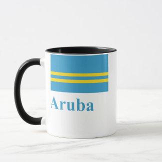 Aruba flagga med namn mugg