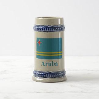 Aruba flagga med namn sejdel