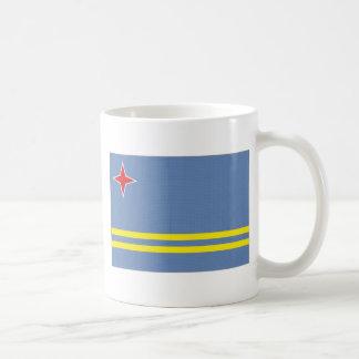 Aruba medborgareflagga vit mugg