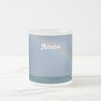 Aruba regnbåge frostad glas mugg