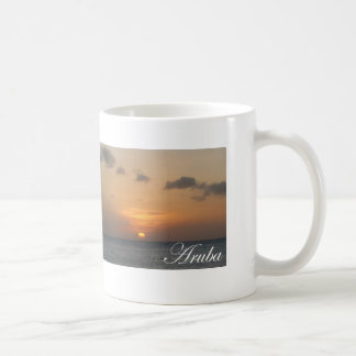 Aruba solnedgång kaffemugg