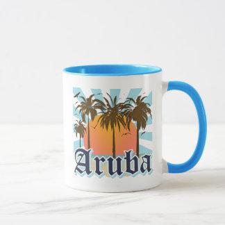 Aruba strandsolnedgång mugg