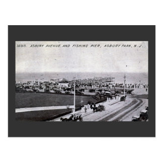 Asbury parkerar, nytt - jerseyvintage 1910 vykort