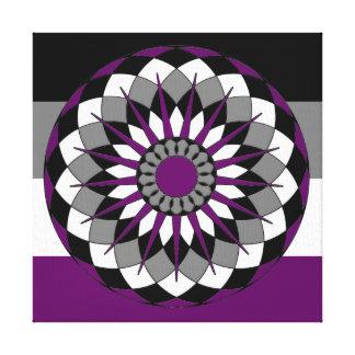 Asexual Mandala LGBT för prideflaggafärger Canvastryck