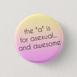 Asexual pride klämmer fast mini knapp rund 3.2 cm