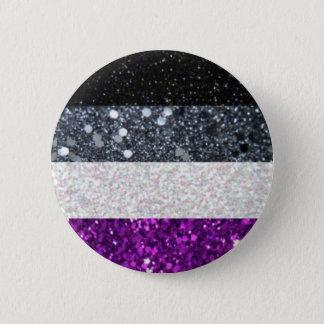 Asexual prideglitter knäppas standard knapp rund 5.7 cm