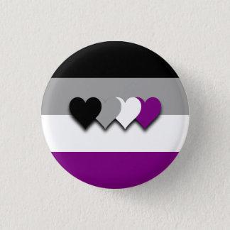 Asexualityflagga knäppas mini knapp rund 3.2 cm