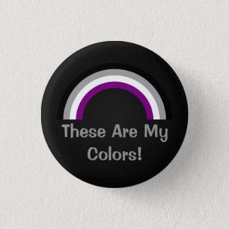 Asexualityregnbågepride knäppas mini knapp rund 3.2 cm