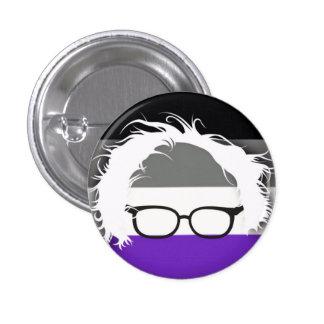 Asexuals för Bernie slipmaskiner Mini Knapp Rund 3.2 Cm