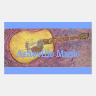 Asheville musik rektangulärt klistermärke