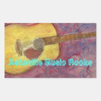 Asheville musikstenar rektangulärt klistermärke