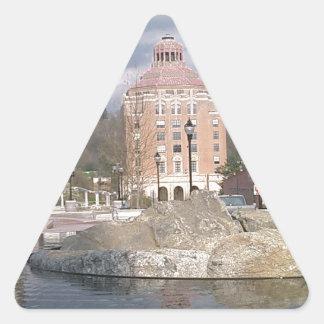 Asheville nc fontän triangelformat klistermärke