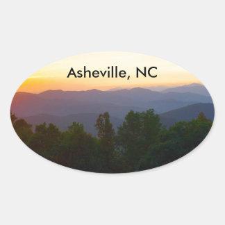 Asheville NC-klistermärke Ovalt Klistermärke