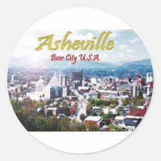 ASHEVILLE NORTH CAROLINA ölstad USA Runt Klistermärke