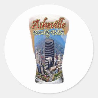 Asheville ölstad USA Runt Klistermärke