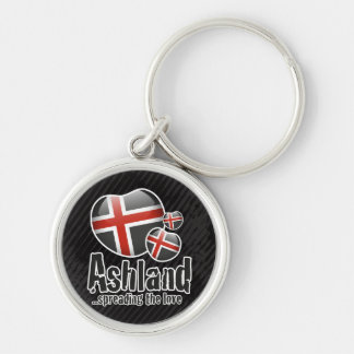 Ashland kärlek Keychain Rund Silverfärgad Nyckelring