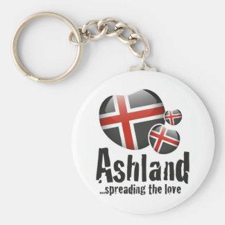 Ashland kärlek rund nyckelring
