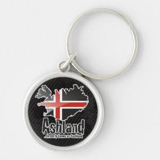 Ashland Keychain Rund Silverfärgad Nyckelring