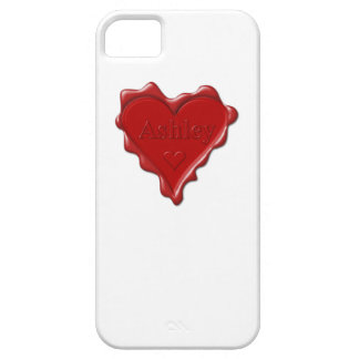 Ashley. Den röda hjärtavaxen förseglar med kända iPhone 5 Skydd