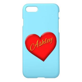 Ashley med hjärta iPhone 7 skal