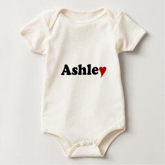 Ashley med hjärta sparkdräkt