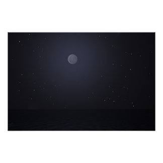 Ashnight med stjärnor poster
