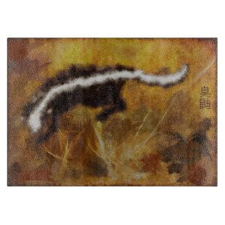 Asiat-utformad målning av skunken i en