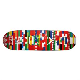 Asiatet sjunker skateboarden mini skateboard bräda 18,7 cm