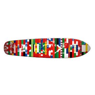 Asiatet sjunker skateboarden skate board deck