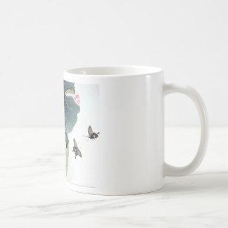 Asiatisk coola för konst för fjäril för blomma för kaffemugg