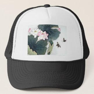 Asiatisk coola för konst för fjäril för blomma för keps