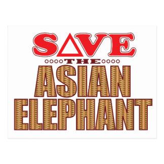 Asiatisk elefantspara vykort