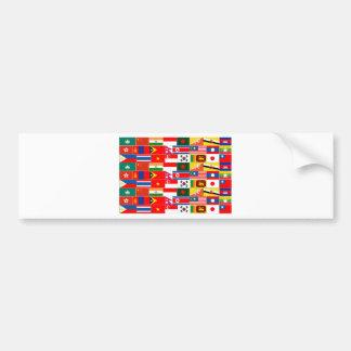Asiatisk flaggor bildekal