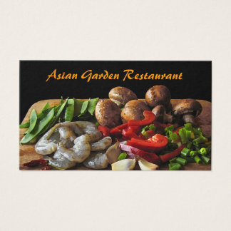 Asiatisk restaurang visitkort