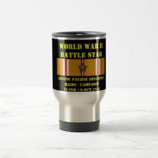 Asiatisk Stillahavs- specificerad razziakampanj Rostfritt Stål Resemugg
