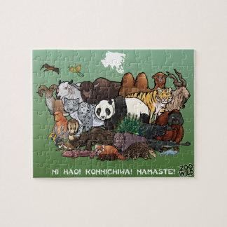Asiatiska djur - pussel